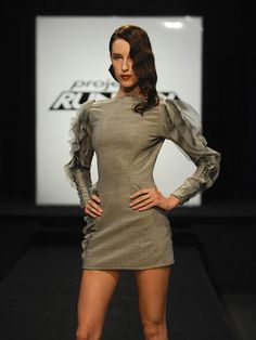 """Maya Luz """"Water"""" dress from Project runway. Love the sleeves!!!"""