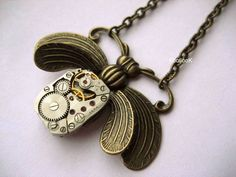 Mechanical Bee Necklace