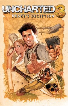 Uncharted 3 cover by Adam Hughes