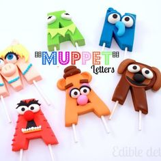 muppet character letters by edible details How about cute numerals for Birthday cakes?!