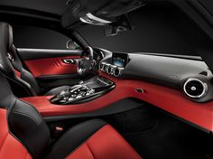 sneak preview of the mercedes-benz AMG GT interior cockpit