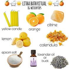 ☀ A Summer Solstice Bath Ritual! ☀ Welcome Litha, and the warmth of the Sun God & Goddess with this simple bath ritual. Litha is tomorrow, June 21st and this ritual can be done tonight, tomorrow or whenever you wish to honour Litha! 🌻 As always, be cautious with oils as it can be very slippery. Take caution when using essential oils. Strain your herbs before draining your tub to avoid clogs. Never leave a flame unattended. ⚠ #Regram via @www.instagram.com/p/By87hrY Summer Solstice Ritual, Solstice Festival, Winter Solstice, Wiccan Sabbats, Sweet Magic, Spiritual Bath, Eclectic Witch, Modern Witch, Kitchen Witch