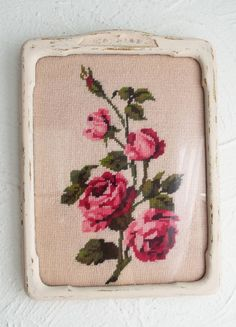 Rose Chic Garden Vintage Frame Plaque Shabby Wall Decor Flowers Floral