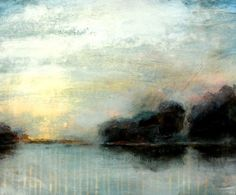 Acrylmalerei Lasuren - Landschaft im Nebel