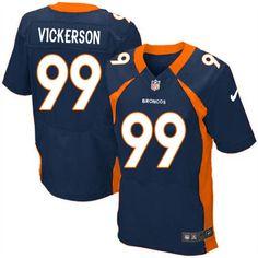 Men's Nike Denver Broncos #99 Kevin Vickerson Elite Orange Team Color NFL Jersey Sale