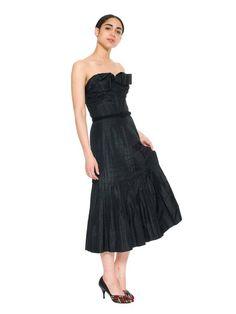 1950s Jacques Heim Actualité Taffeta Cocktail Dress