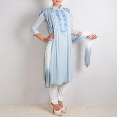 Breezy Blue Floral Suit