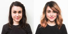 Pin for Later: Yes, Even Brunettes Can Pull Off the Pastel Hair Trend Before and After