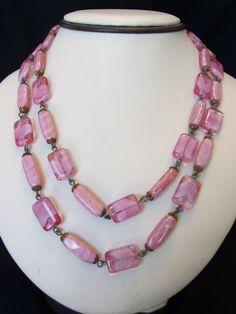 Czech ART DECO Jewelry Necklace Vintage Satin by AnnesGlitterBug