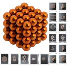 64pcs 5mm DIY Buckyballs Neocube Magic Beads Magnetic Toy Orange.  Check this out at the Tmart link on MomTheShopper.