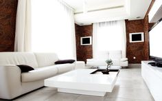 Yarwood Leather 'Hammersmith' (Chalk) on sofas