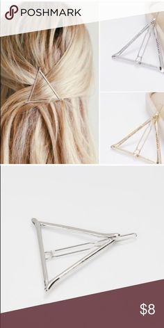❗️ONE LEFT ❗️Triangle Hair Clip Geometric Triangle Hair Clip. Price is Firm unless bundled Accessories Hair Accessories