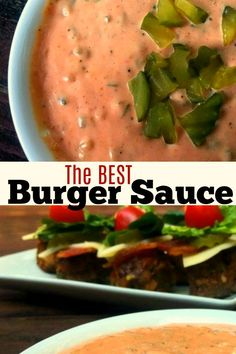 Literally, The Best Burger Sauce! We love to dip our Patty Melts (and fries) in it! Best Burger Sauce, Good Burger, Burger Recipes, Sauce Recipes, Good Food, Yummy Food, Tasty, Homemade Sauce, Frugal Meals