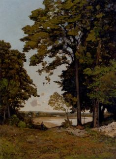 Henri-Joseph Harpignies (Henri Joseph Harpignies): A Summer's Day On The Banks Of The Allier