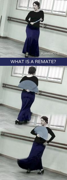 What is a remate? The term remate comes from the verb rematar which means to end or to conclude. The remate can be used to conclude a series of movements but it is also used as a step to enhance the strength of a letra or falsetta - in this sense it is not a conclusion but a continuation of the music and movement.
