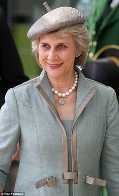 Duchess of Gloucester at Royal Ascot day 2 6/19/13: pearl with aquamarine and diamond pendant.