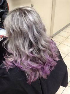 the purple is pretty but i honestly just love the shade of silver blonde in this one.