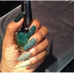 Ombre Green Nails