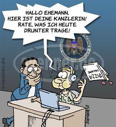 Cartoon Merkel-Lausch-Skandal