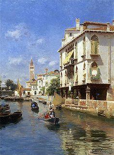 Title: Canale della Guerra, Venice, undated  Artist: Rubens Santoro  Medium: Canvas Art Print - Giclee