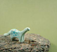 Little Dinosaur - Hand Sculpted Miniature Ceramic Animal