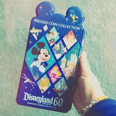 Disneyland diamond 60th anniversary Special Edition Pressed Penny / Coin Collection Holder