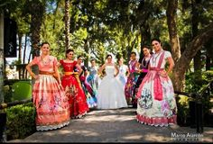 Mexican Wedding , The Bride and Bridesmaid.....