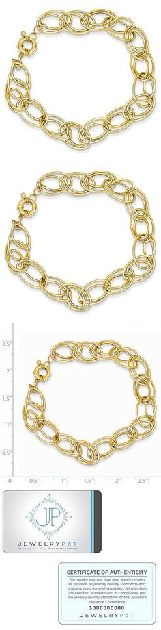 Precious Metal without Stones 164313: 14K Yellow Gold 7.5In Fancy Oval Link Bracelet -> BUY IT NOW ONLY: $232.99 on eBay!