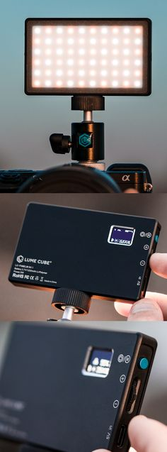 The credit-card-size Lume Cube Panel Mini looks like a generic LED light panel, but is actually a sophisticated, moderately powerful lighting unit for photos and Zoom videos. Brightness of the rechargeable, 60-LED unit adjusts from 1% to 100% and color temperature can be set from 3200K (tungsten lightbulb) to 5600K (daylight). The $60 Panel Mini has two tripod sockets and an LCD readout and comes with a camera shoe adapter and a diffuser. CLICK THE PIC for more. #LumeCube #LitByLume… Fruit Logo, Led Panel Light, Video Lighting, Lightbulb, Cool Tech, Color Temperature, Card Sizes, Tripod, Diffuser