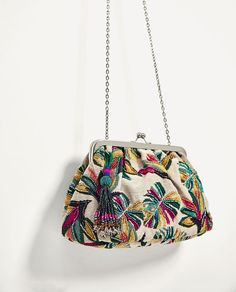 ZARA - WOMAN - BEADED CROSSBODY BAG WITH CLASP FASTENING