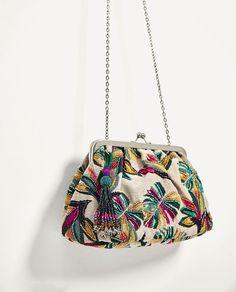 ZARA - WOMAN - BEADED CROSSBODY BAG WITH CLASP FASTENING