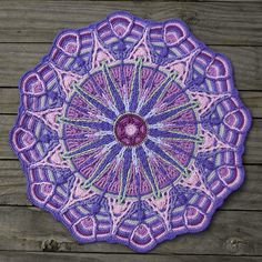 This mandala is worked in overlay crochet technique. This technique is deeply rooted in cable and Aran crochet. Overlay crochet created a symmetric textured design. Motif Mandala Crochet, Crochet Circles, Crochet Motifs, Crochet Blocks, Crochet Squares, Crochet Doilies, Crochet Stitches, Crochet Patterns, Ravelry Crochet