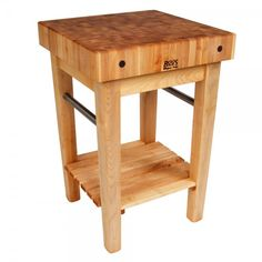 John Boos Pro Prep Table with Butcher Block from Perry Clark Home. Beautiful, functional, high quality - the gold standard in gourmet kitchen equipment. Free Shipping included with every order!