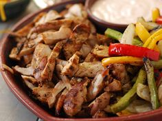 Beef or Chicken Fajitas