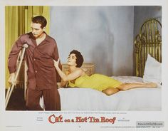 Cat on a Hot Tin Roof - Lobby card with Elizabeth Taylor & Paul Newman