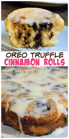 Adding an Oreo truffle center makes these no yeast cinnamon rolls perfect for breakfast!