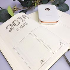 Bullet journal year in pictures, memories tracker, unique bullet journal layout. | @shemeetspaper