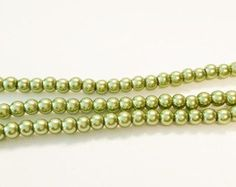 Faux Olive Green Pearls, Glass Pearls, Small Glass Beads, 332a by vickysjewelrysupply. Explore more products on http://vickysjewelrysupply.etsy.com
