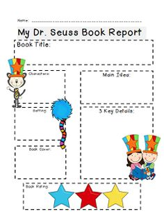 Celebrate Read Across America and Dr. Seuss' birthday with this Common Core Aligned pack! Lots of fun and learning are included!! Most every page comes in both color and black and white. Contents include: Finger puppets, a story map, book report, venn diagram, Dr. Seuss Mystery Picture using the 100 chart, Dr. Seuss Acrostic Poem, Cat in the Hat labeling, 3 different writing prompts, Favorite Book Graphing/tally sheet and questions, and rhyming with the Cat in the Hat.