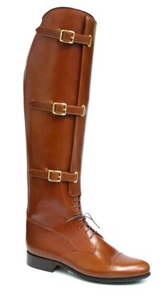 Vogel 3-Strap Field Boot. And I'll take a pair! Brown had been all the rage in the warm up at the Olympic Equestrian Events.