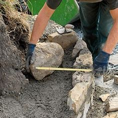 montage des pierres naturelles