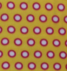 Blizzard Fleece Fabric- Beetroot Lemon Mini Dots
