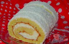 Coconut roll (in slovak) Kokosová roláda Mexican Food Recipes, Sweet Recipes, Czech Desserts, European Dishes, Czech Recipes, Cheesecake Cupcakes, Healthy Deserts, Pastry Shop, Wonderful Recipe