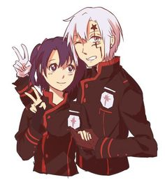 D.Gray-man Allen and Lenalee
