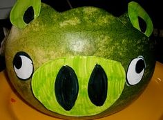 angry bird watermelon pig-haha!