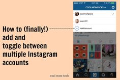 How to add and manage multiple Instagram accounts without logging in and out. (Finally!)