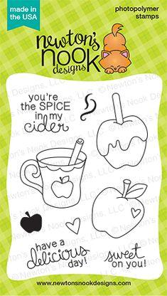 Apple Delights | 3x4 photopolymer Stamp Set | Newton's Nook Designs