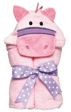 "Our Pink Pony Tubbie is a favorite snuggly towel for girls. Ride away after your bath, of after swimming at the beach or pool. This 100 % Cotton Terry Cloth Towel measures 27"" x 50"" and is machine washable and dryable. Personalization included. $33.95 TODAY AND TOMORROW IF YOU MENTION PINTEREST. FREE EMBROIDERED NAME."