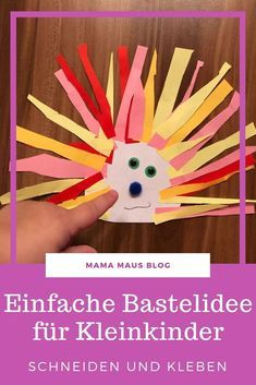 A simple craft for toddlers. Made with a few materials in a short time and therefore ideal for children from 2 years. Craft Stick Crafts, Resin Crafts, Decor Crafts, Paper Crafts, Toddler Crafts, Easy Crafts, Crafts For Kids, Arts And Crafts, Crafts Toddlers