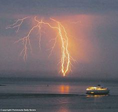 Lighting over Puget Sound
